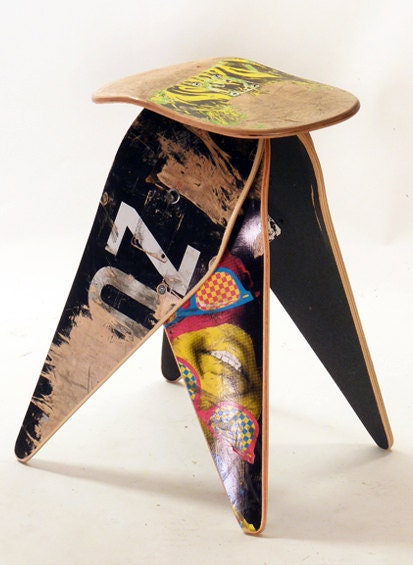 New recycled skateboard stool - 224