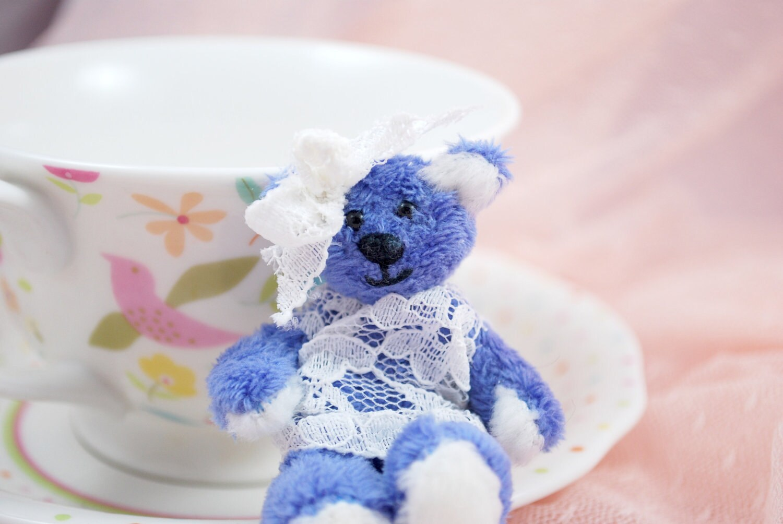 Miniature Blue Artist Bear Penny