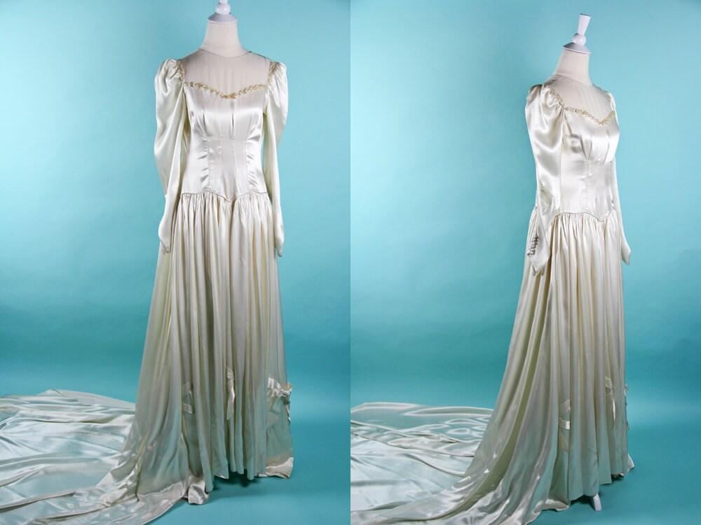 1940s wedding dress 40s wedding dress Elizabeth Taylor Wedding Dress