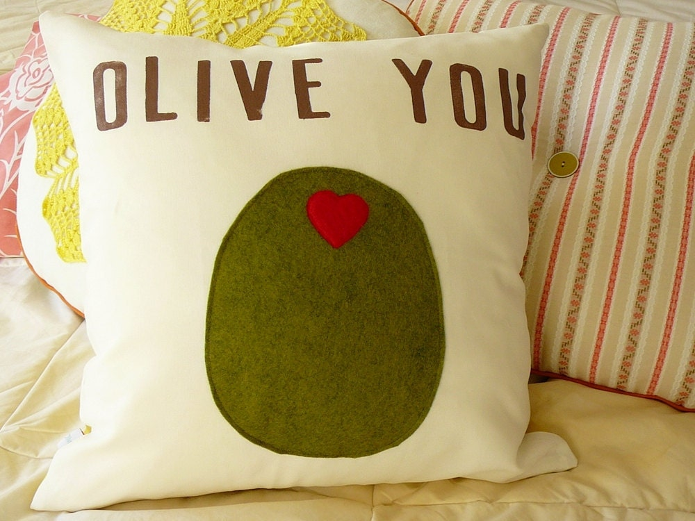 Olive You - Pillow Cover - OliveHandmade
