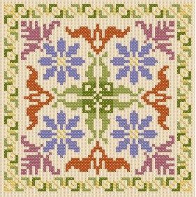 Biscornu - Cross Stitch Patterns & Kits