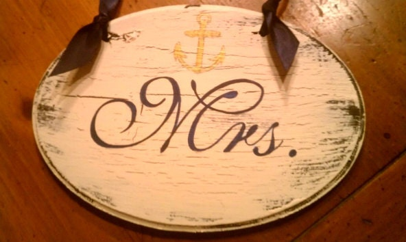 Wedding Signs NAUTICAL Wedding NAVY with ANCHOR Beach Wedding