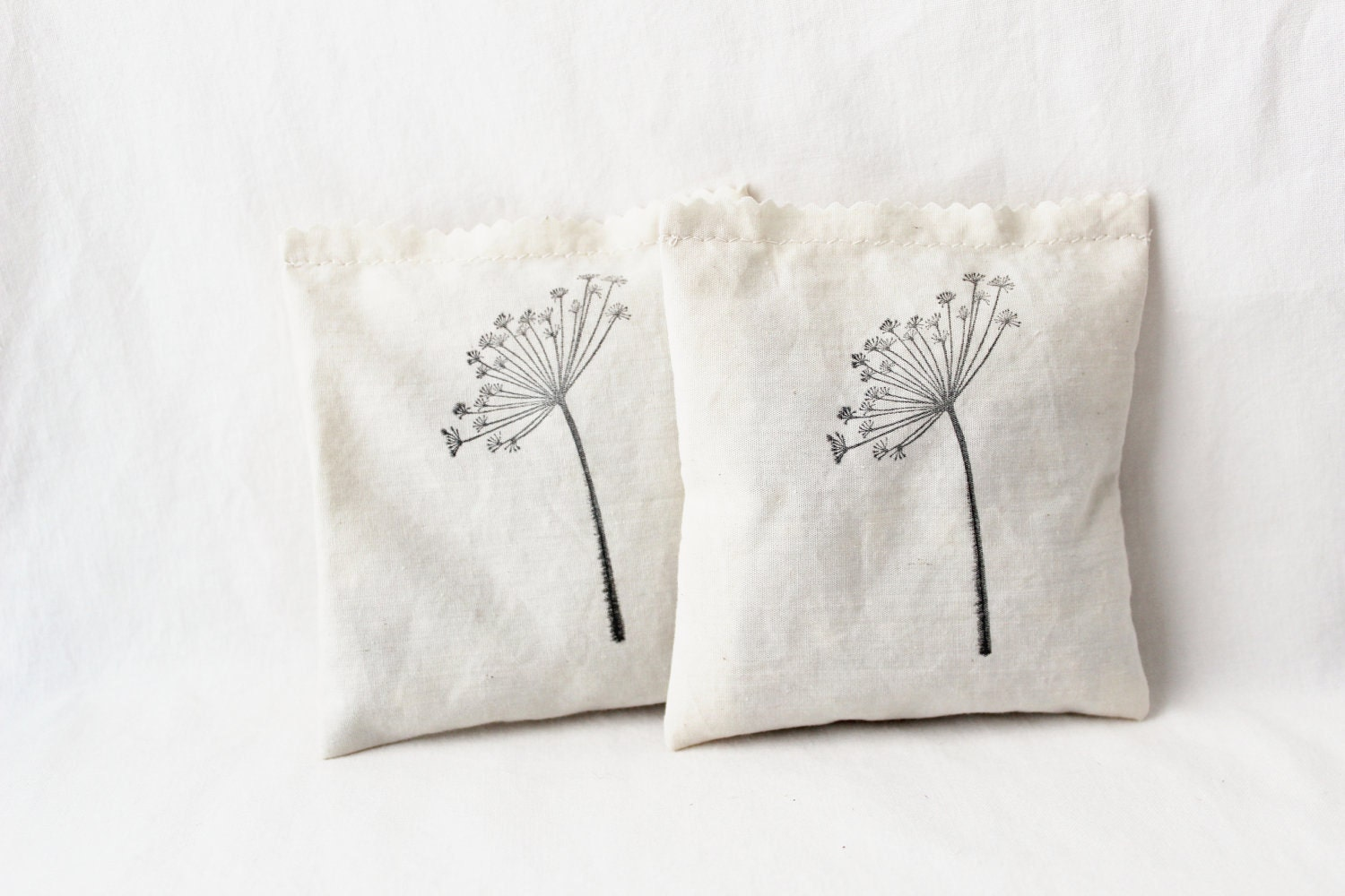 Dandelion Botanical Sachets Make a Wish Modern Minimal Natural Home Decor - Gardenmis