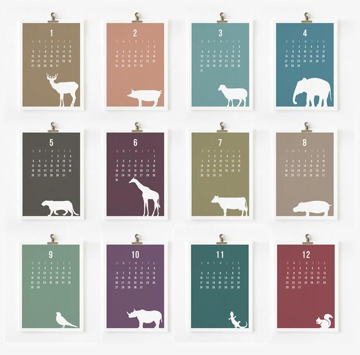 Wild Animal 2013 Calendar