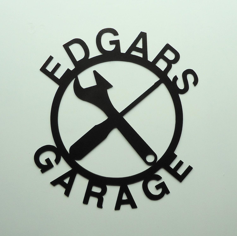 Custom Personalized Metal Art Garage Sign - Free USA Shipping - KnobCreekMetalArts