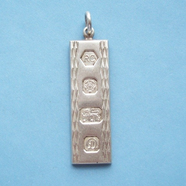 Tiffany Inspired Sterling Silver 1837 Bar Pendant