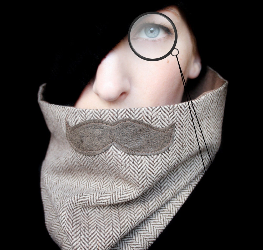 Mustache Clothing - Professor Mustache Scarf Neckwarmer