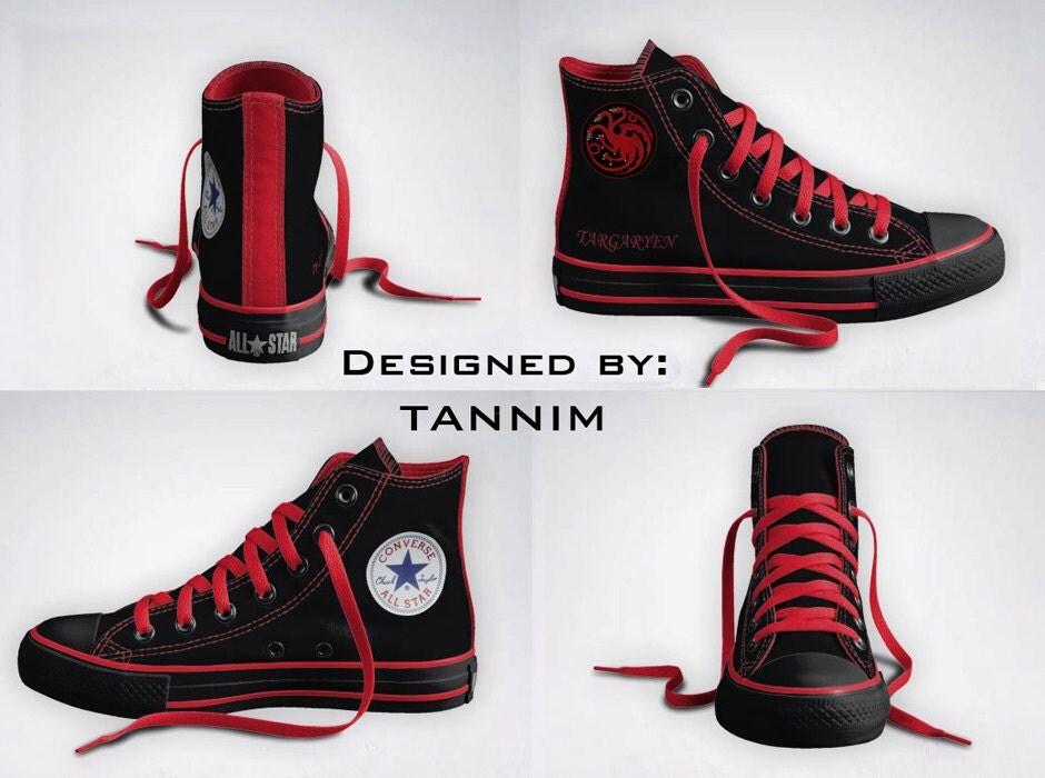 Custom Game of Thrones: House Targaryen Converse Chucks