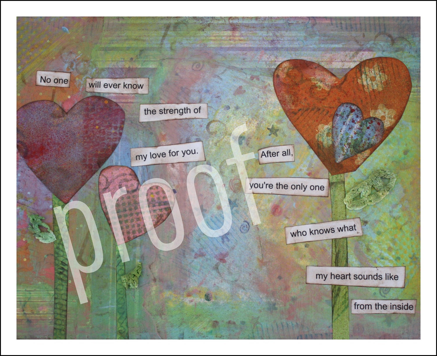 My Heart 8x10 Mixed Media Print-Reece's Rainbow Donation