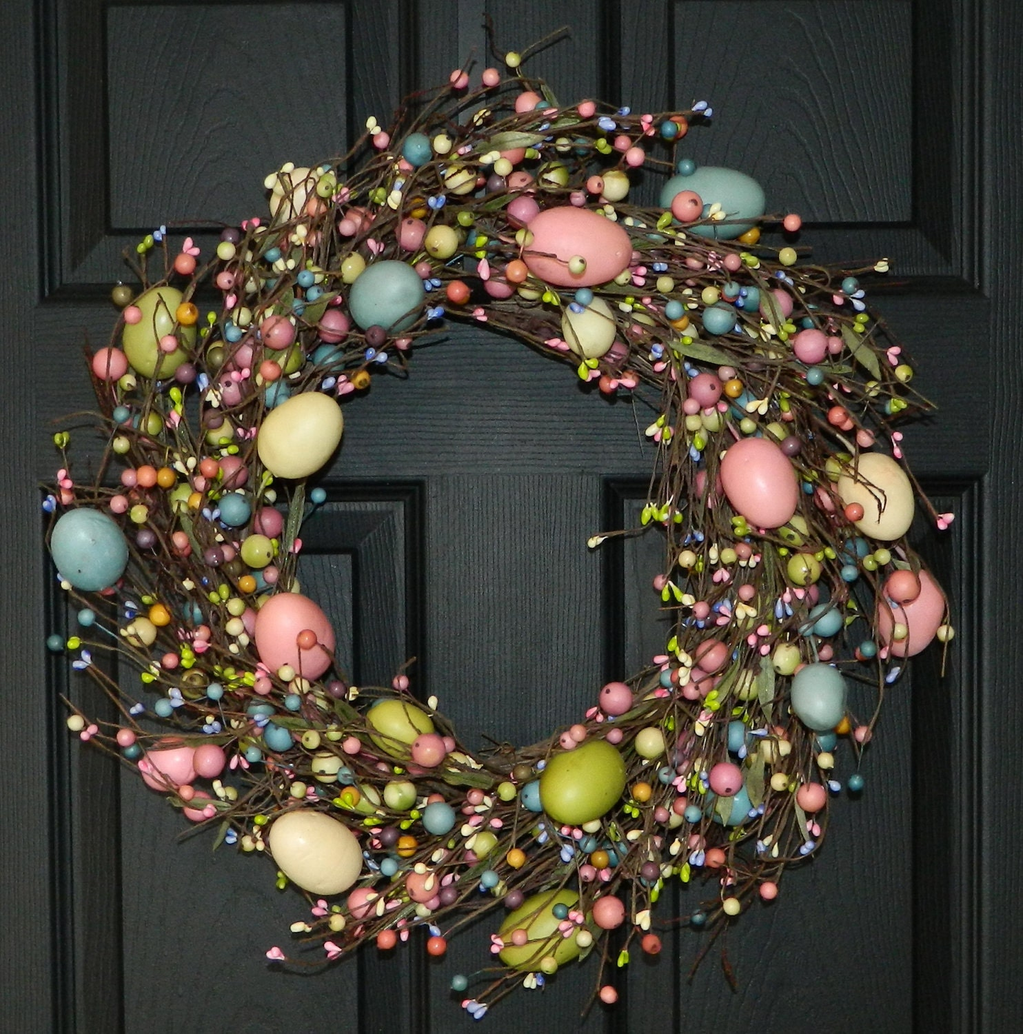 Spring Wreath - Easter Wreath - Egg Wreath