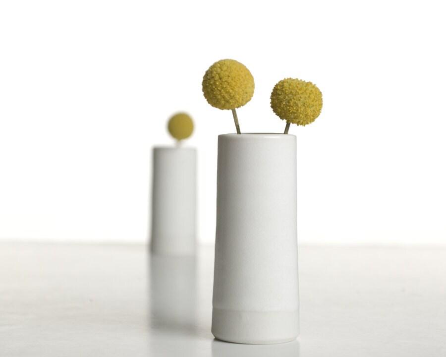 Porcelain Vase - One Modern Handmade Bud Vase - InglesidePottery