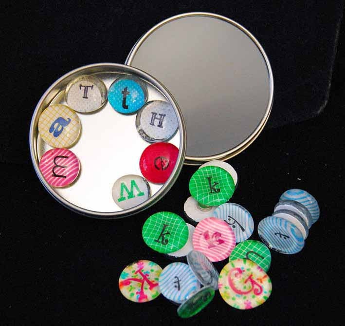 Colorful magnetic letters - .95 cents each - GloryGlassMagnets
