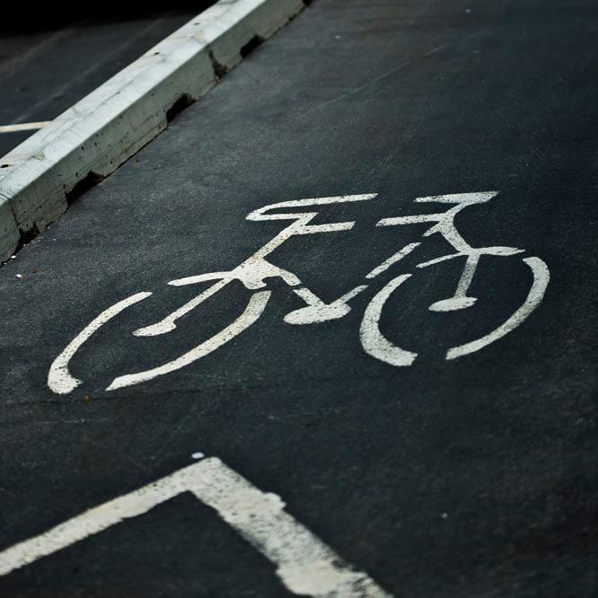 Urban photograph - Back to School - bike sign fine art print - white chevron - slate gray - bicycle lane sportsl 8x8 - Raceytay