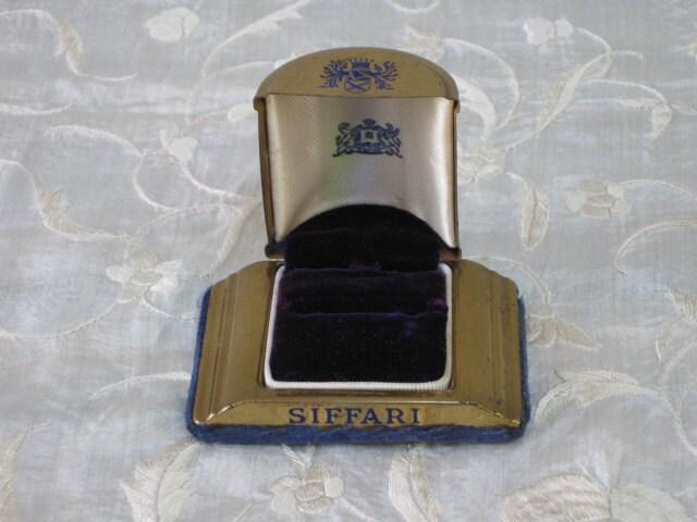 Vintage 1940s SIFFARI Engagement Ring Box Bridal
