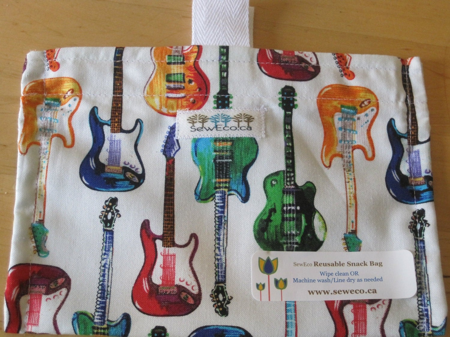 Guitar Eco Friendly Snack Bag