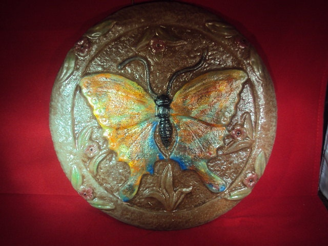 Cast Cement Stone Butterfly Garden Home Wall Hanging - MountainArtCasting