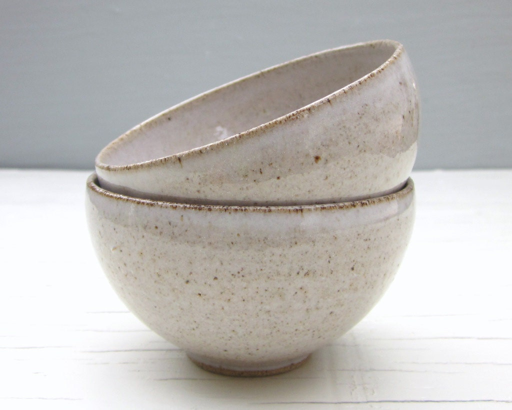 small white ice cream bowls - 4 inches wide