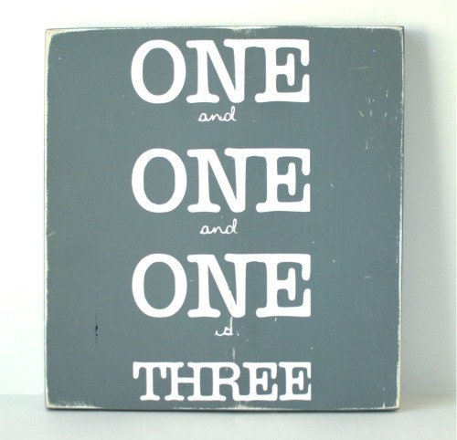 One and One and One is Three Lyric Art