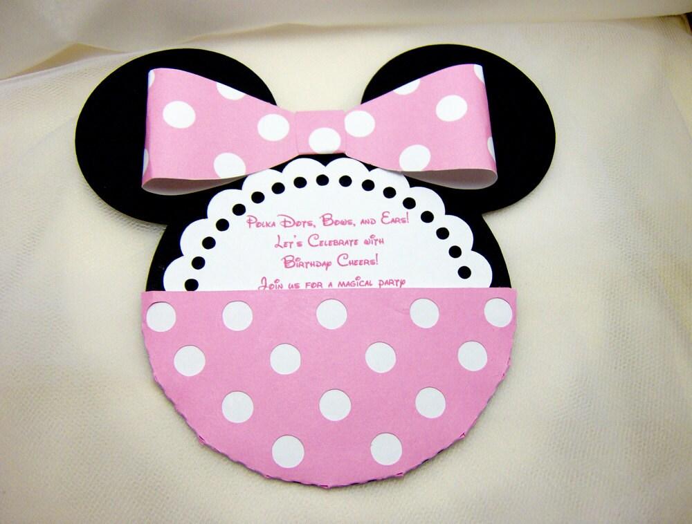 minnie mouse invitation template car interior design. Black Bedroom Furniture Sets. Home Design Ideas