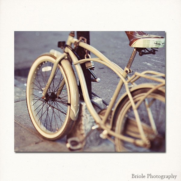New Orleans Bicycle Photography - french quarter bicycle photograph new orleans art louisiana  8x10 fine art print - Briole