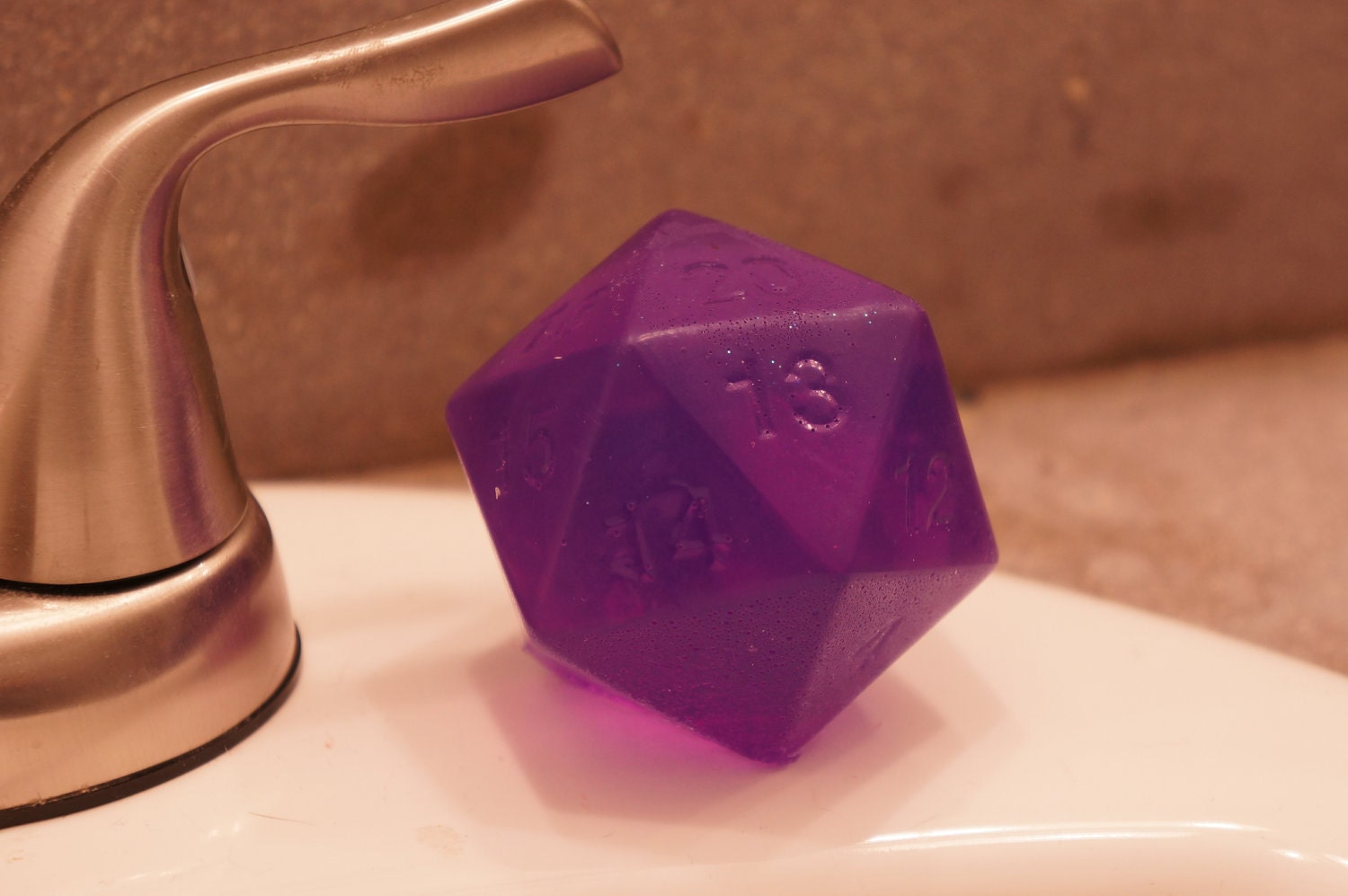 Purple D20 Soap