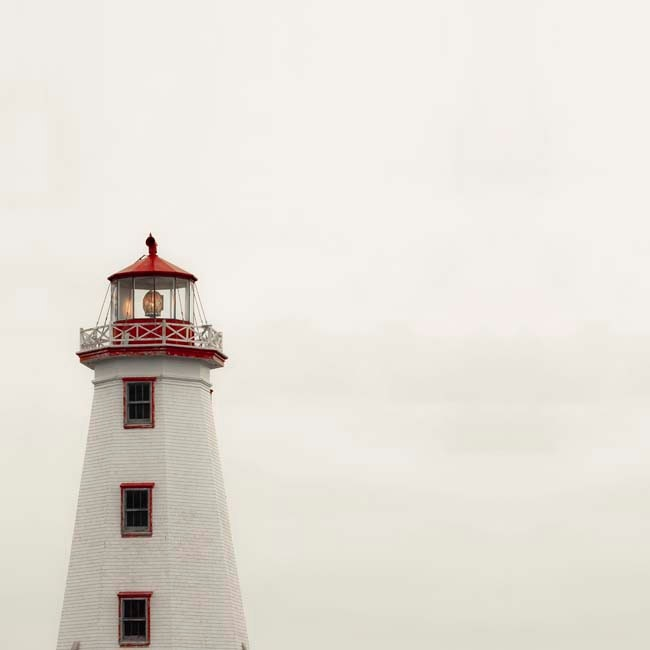 Canada Day, White Lighthouse Photo, Nautical Summer Decor, Minimalist, Red, white and red, Summer 8x8 - Raceytay