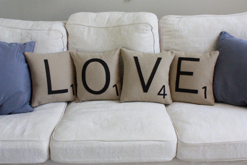 LOVE Letter Pillows - Inserts Included