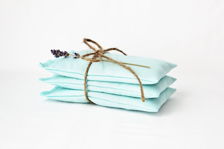 Aqua Blue Lavender Sachets - Organic Drawer Sachets - Bridesmaid Gift - Gardenmis