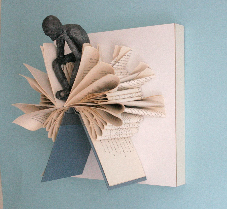 Мыслитель на дерево Fold (Оригинал скульптуры)