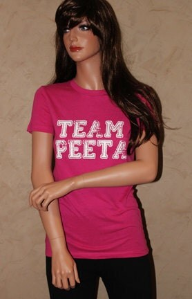 TEAM PEETA Pink Fitted Shirt Size XL