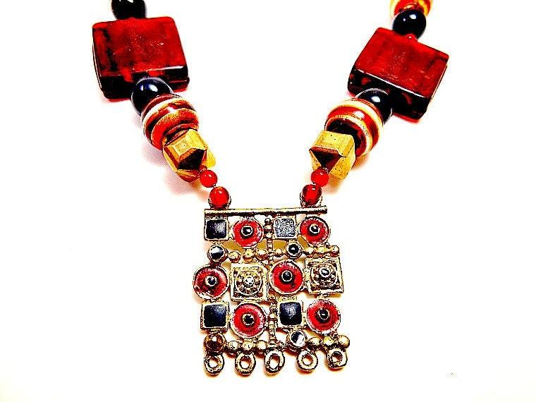 Arabian Night Beaded Necklace