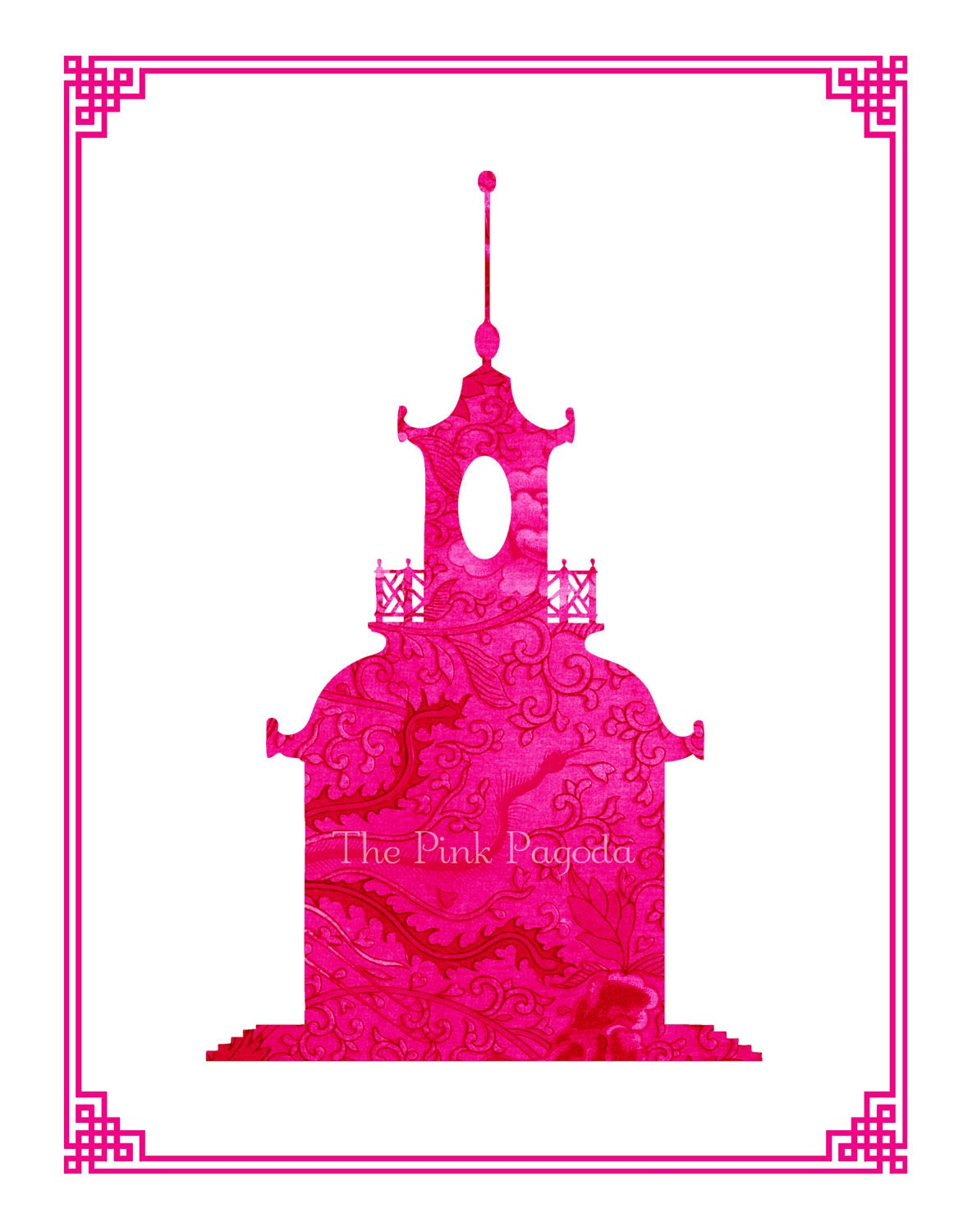 Chinoiserie Chic Limited Edition Pagoda Giclee 11x14 - thepinkpagoda