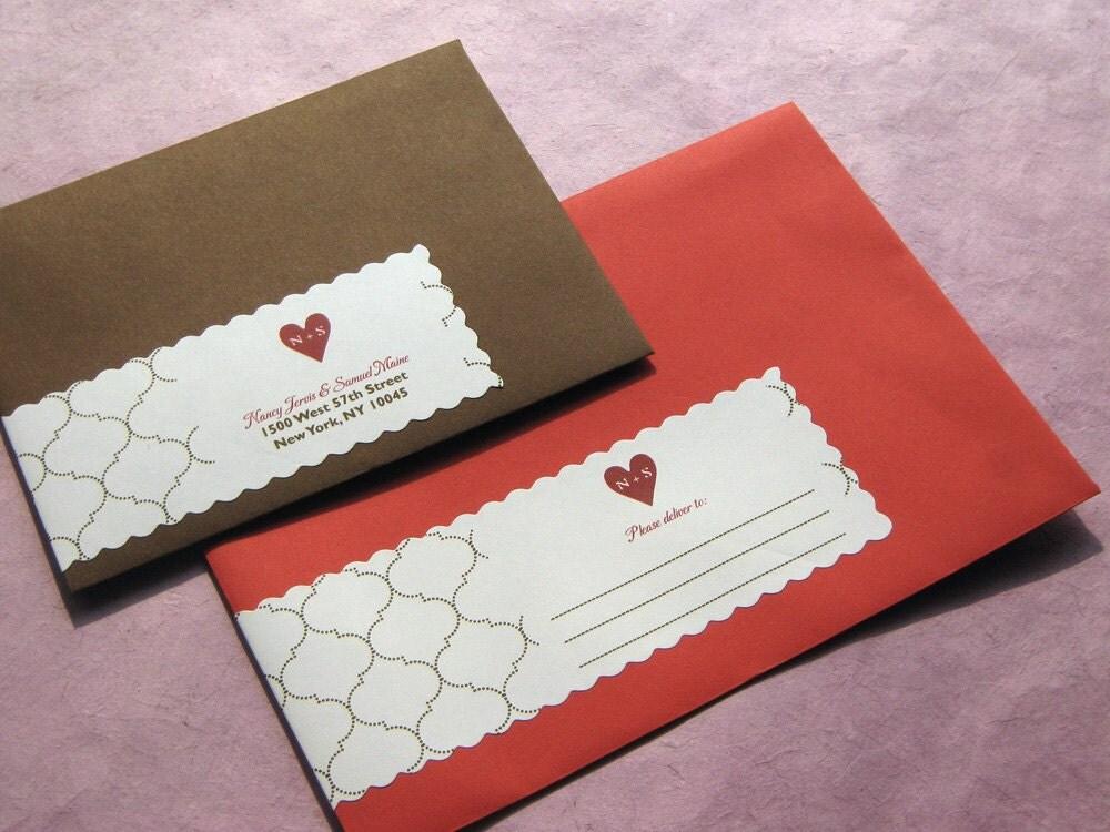 wedding invitation envelope wrap around labels - 28 images - wrap ...
