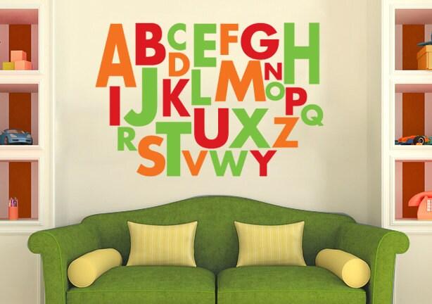 Large Alphabet Wall Decal Vinyl Alphabet