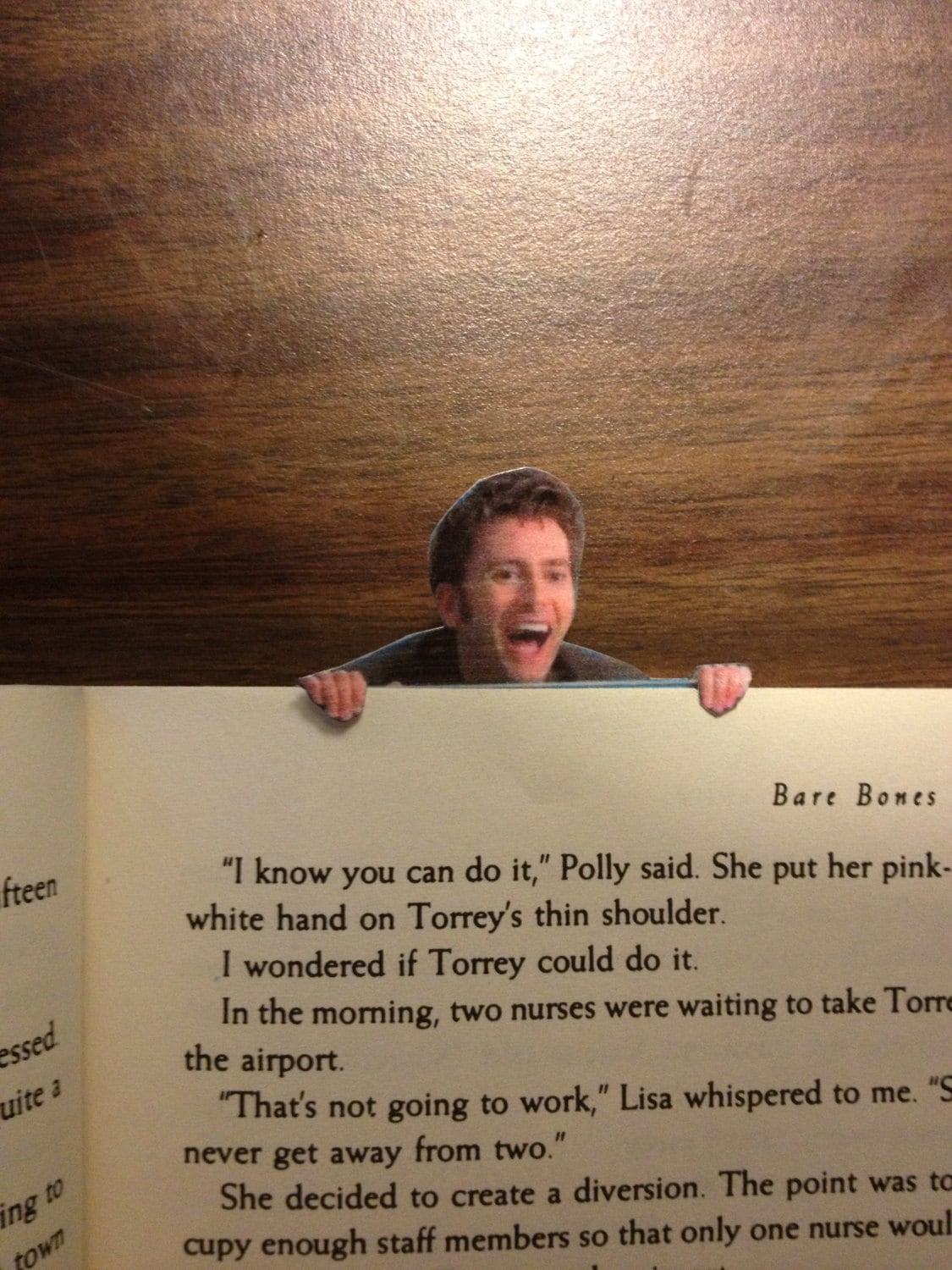 Bookmark Doctor Who David Tennant Tenth Doctor Bookmark that Hangs over your page