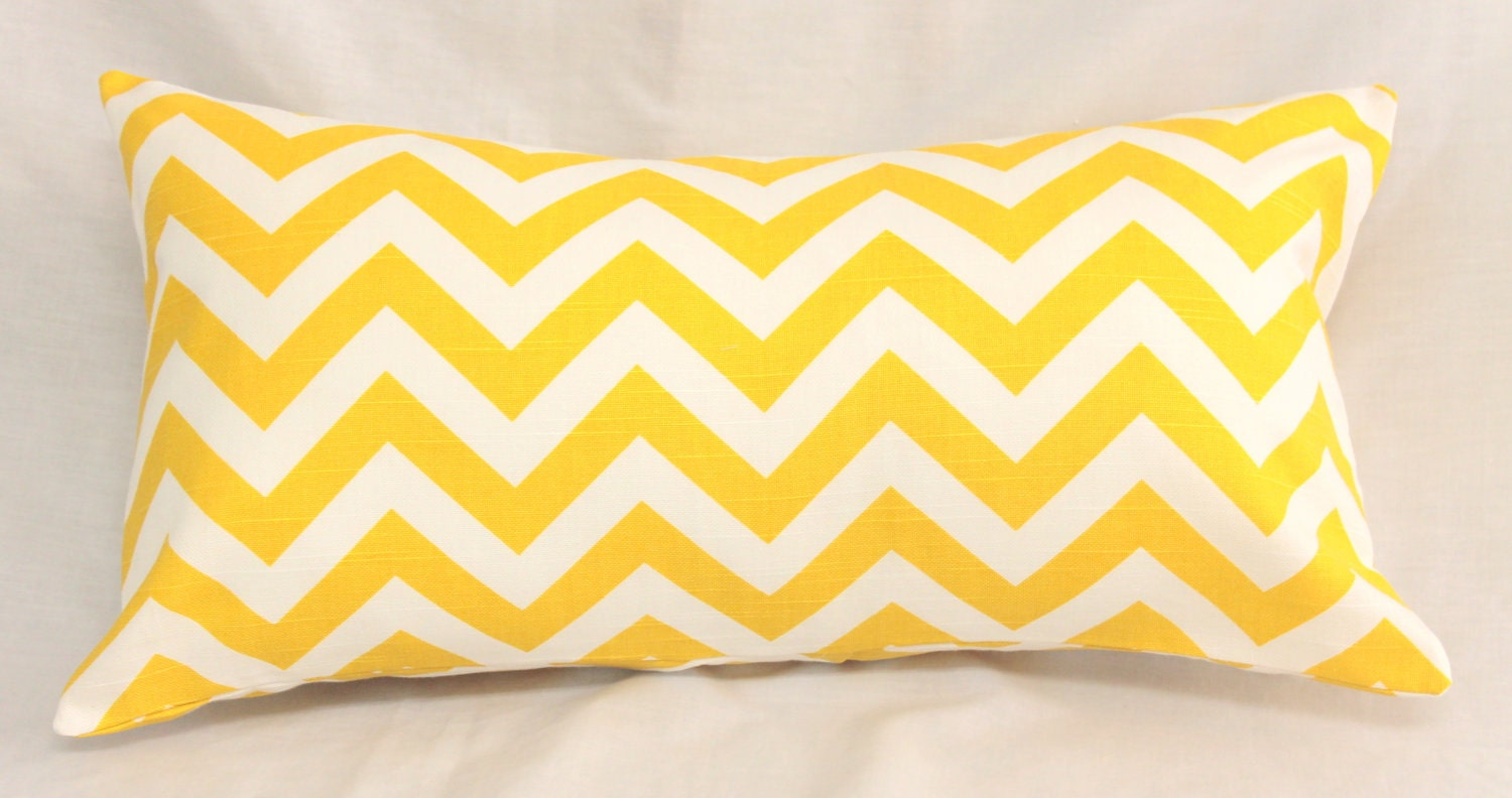 Chevron Pillow Cover Zig Zag Decorative 12 x 22 Accent Cushion