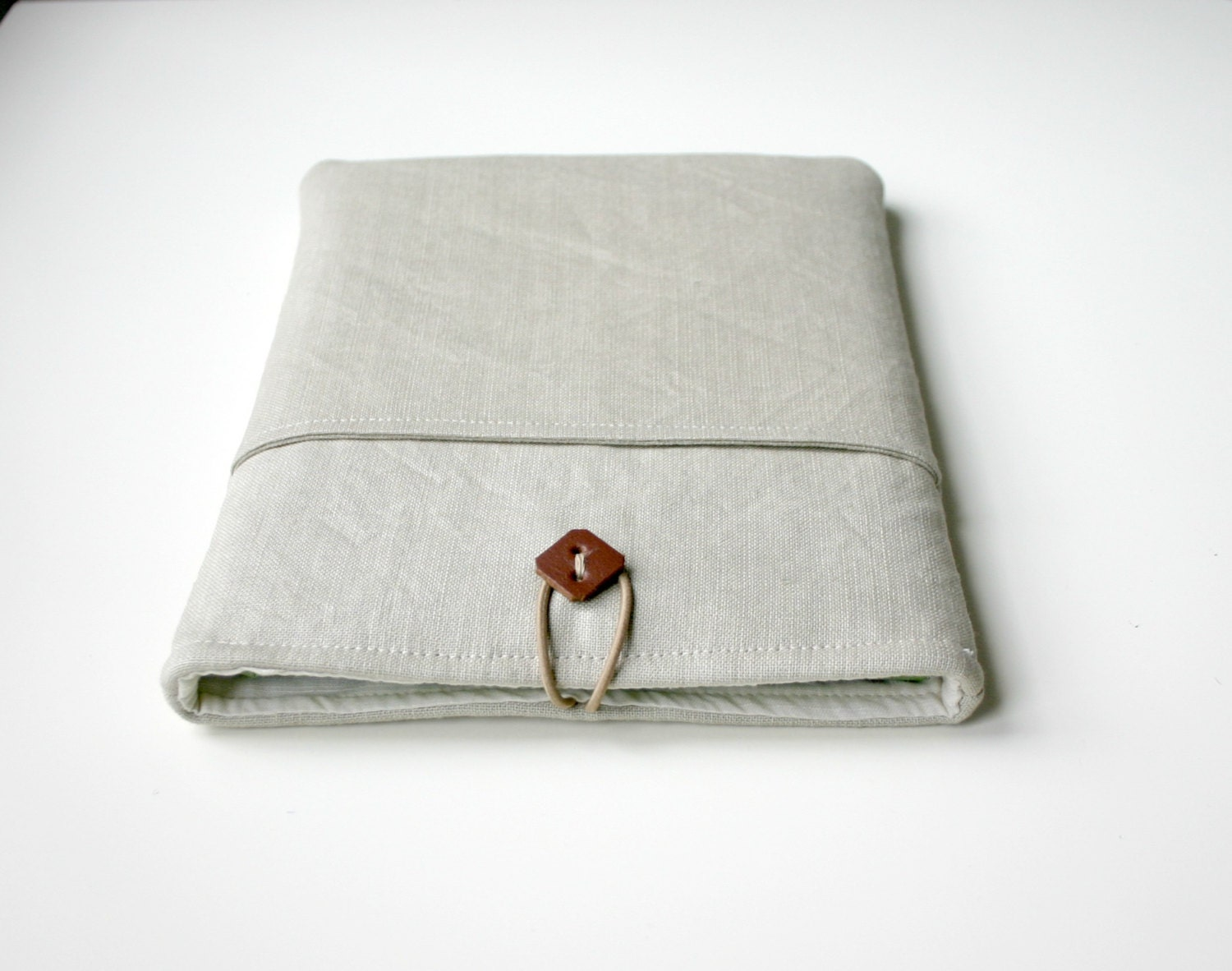 iPad Sleeve iPad Case Padded Natural Linen Pocket - HelloVioleta