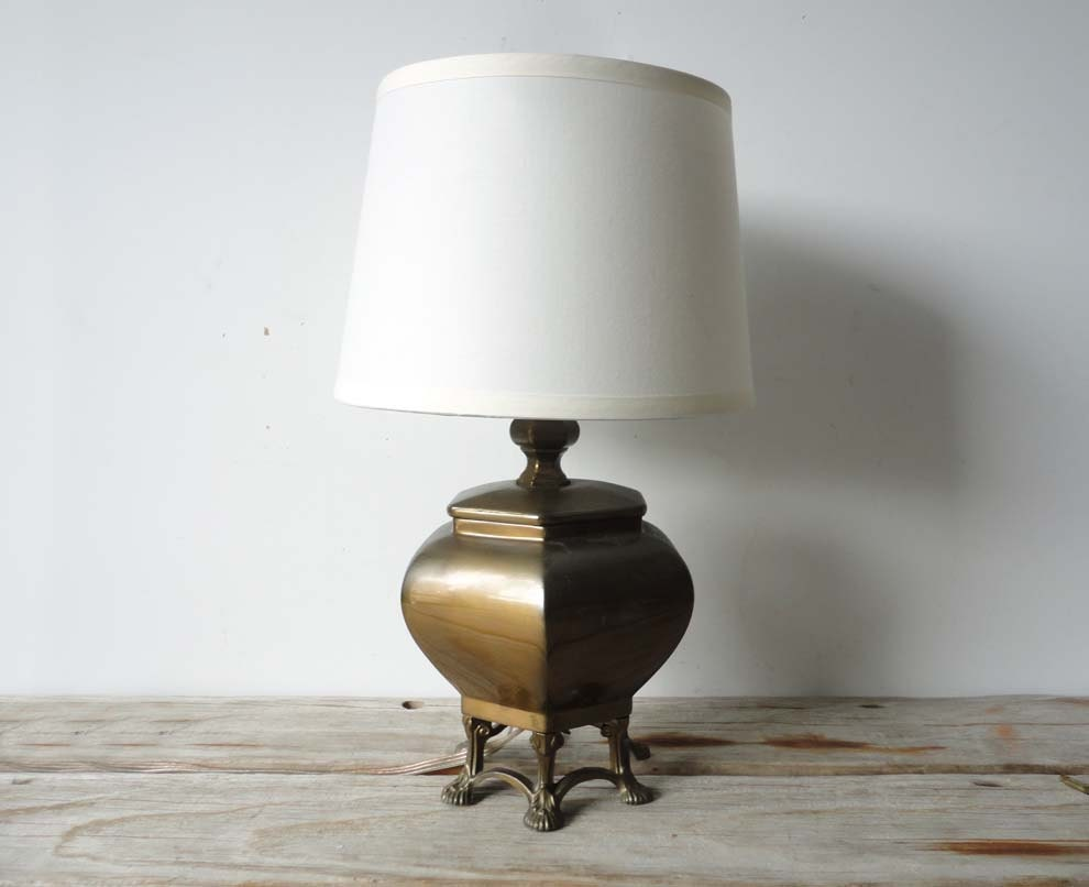Footed Bronze Table Lamp - OceanSwept