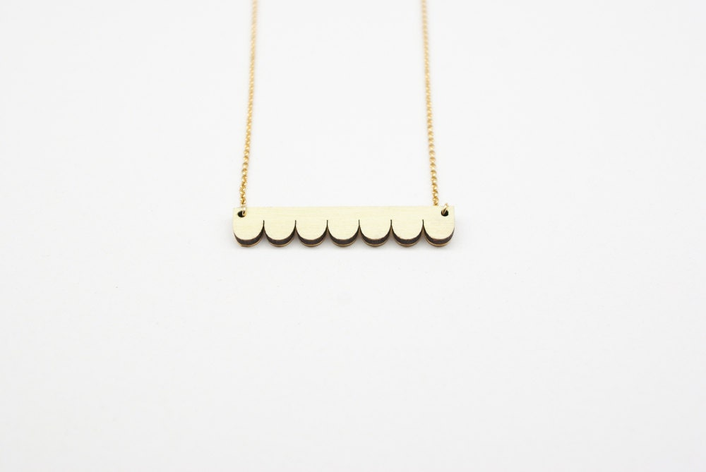 Light yellow long necklace Sully - asmeparis
