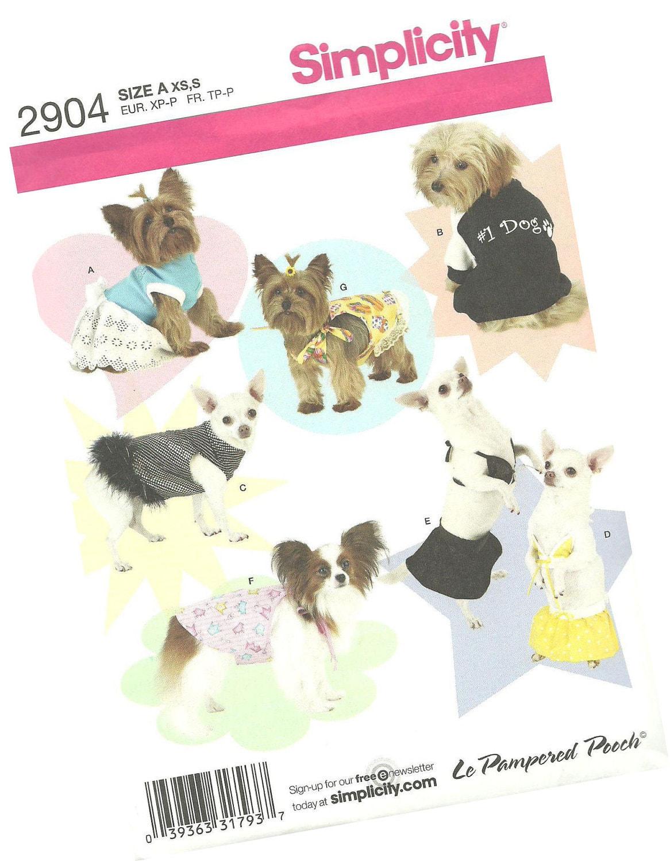 Designer Dog Clothes Patterns