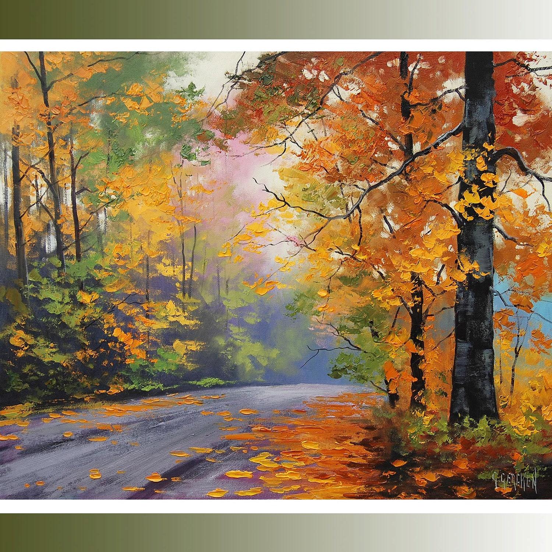 Oil Tree Paintings Large Autumn Oil Painting
