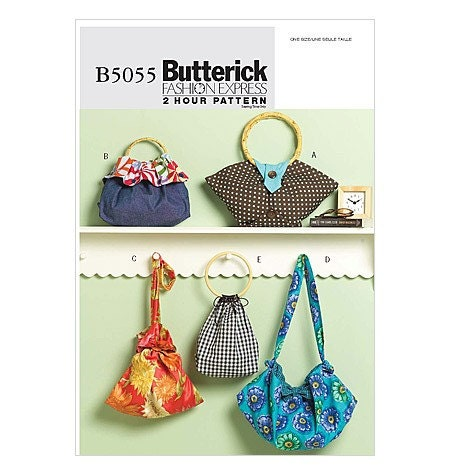 Butterick Handbag Pattern B5055 - Handbags in Five Variations - Ladies Accessories