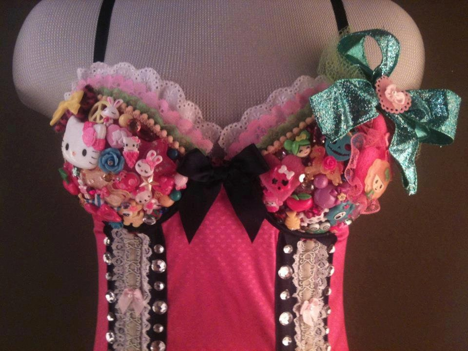 Kawaii Deco Bustier & Accessories Complete Outfit Set