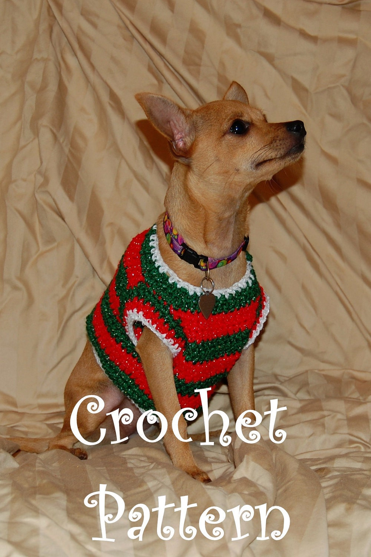 knitted dog sweater free pattern