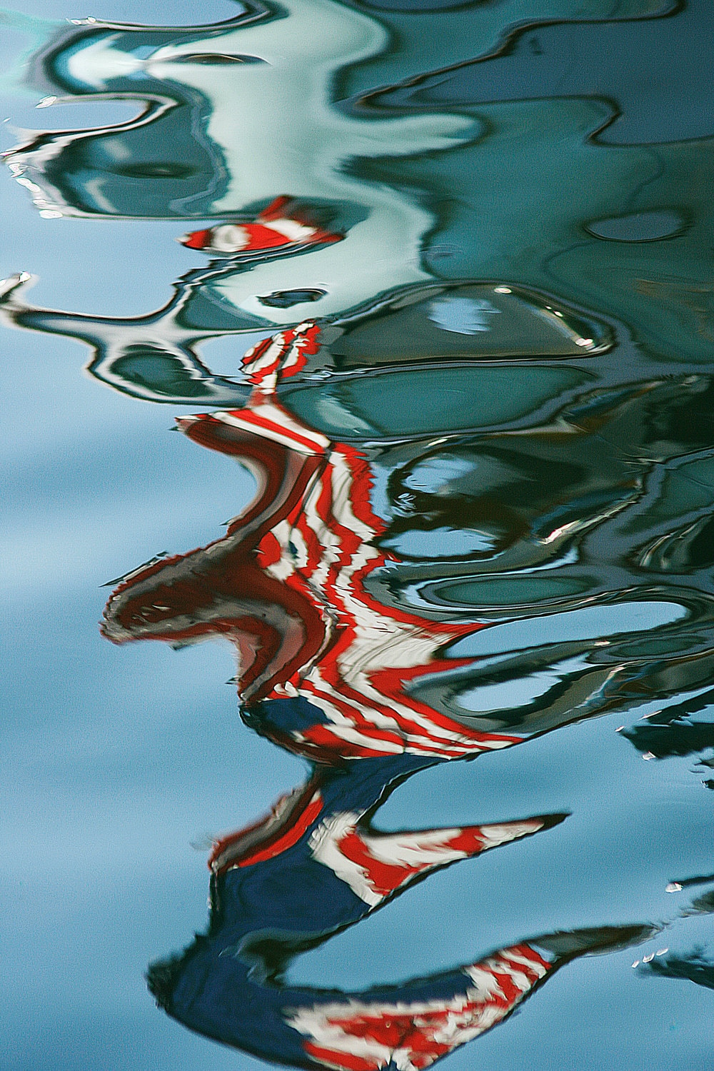 American Flag, 5x7 Fine Art Photography, Abstract Photography, Color Reflections - CindiRessler