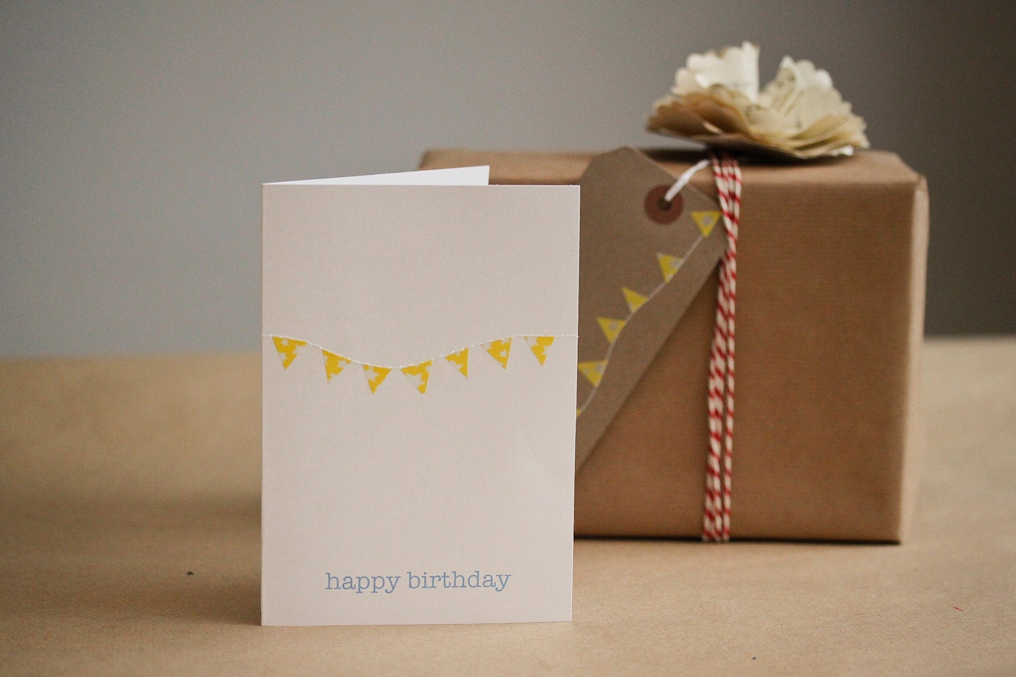 Birthday Card with Mini Bunting - chickenandcustard