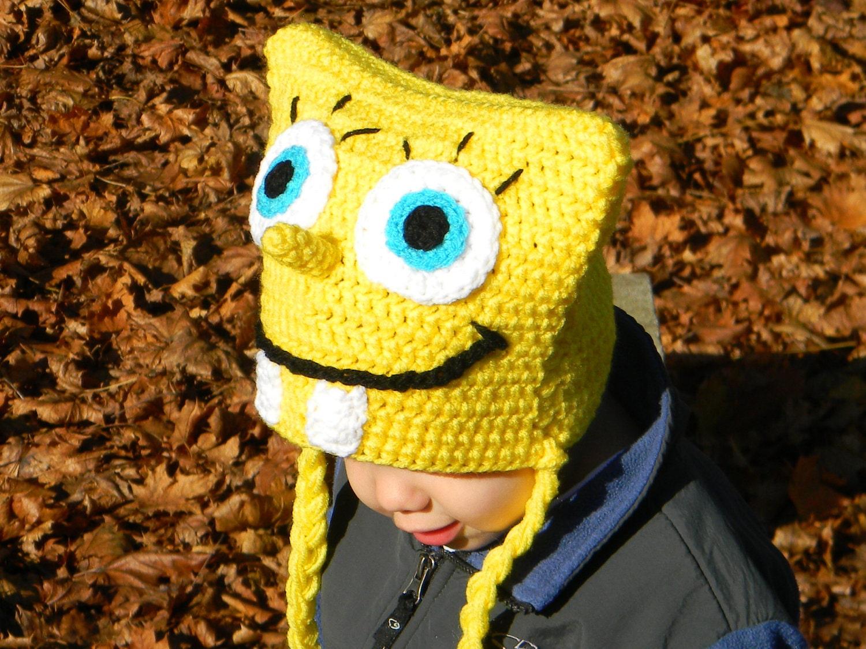 Free Crochet Pattern Spongebob Hat : Spongebob Crochet Pattern