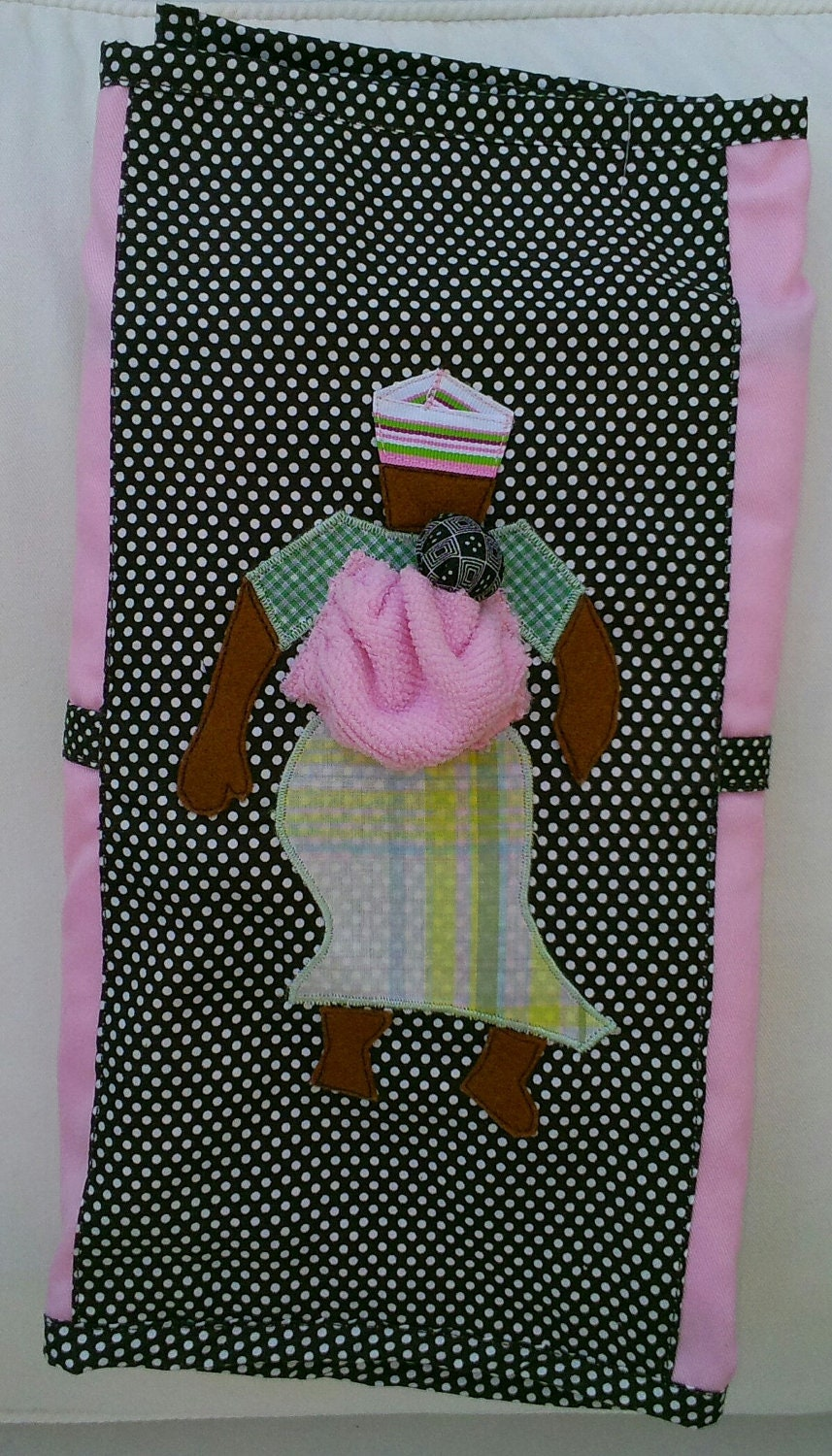 Travel Diaper Changing Mat, African Mama Design