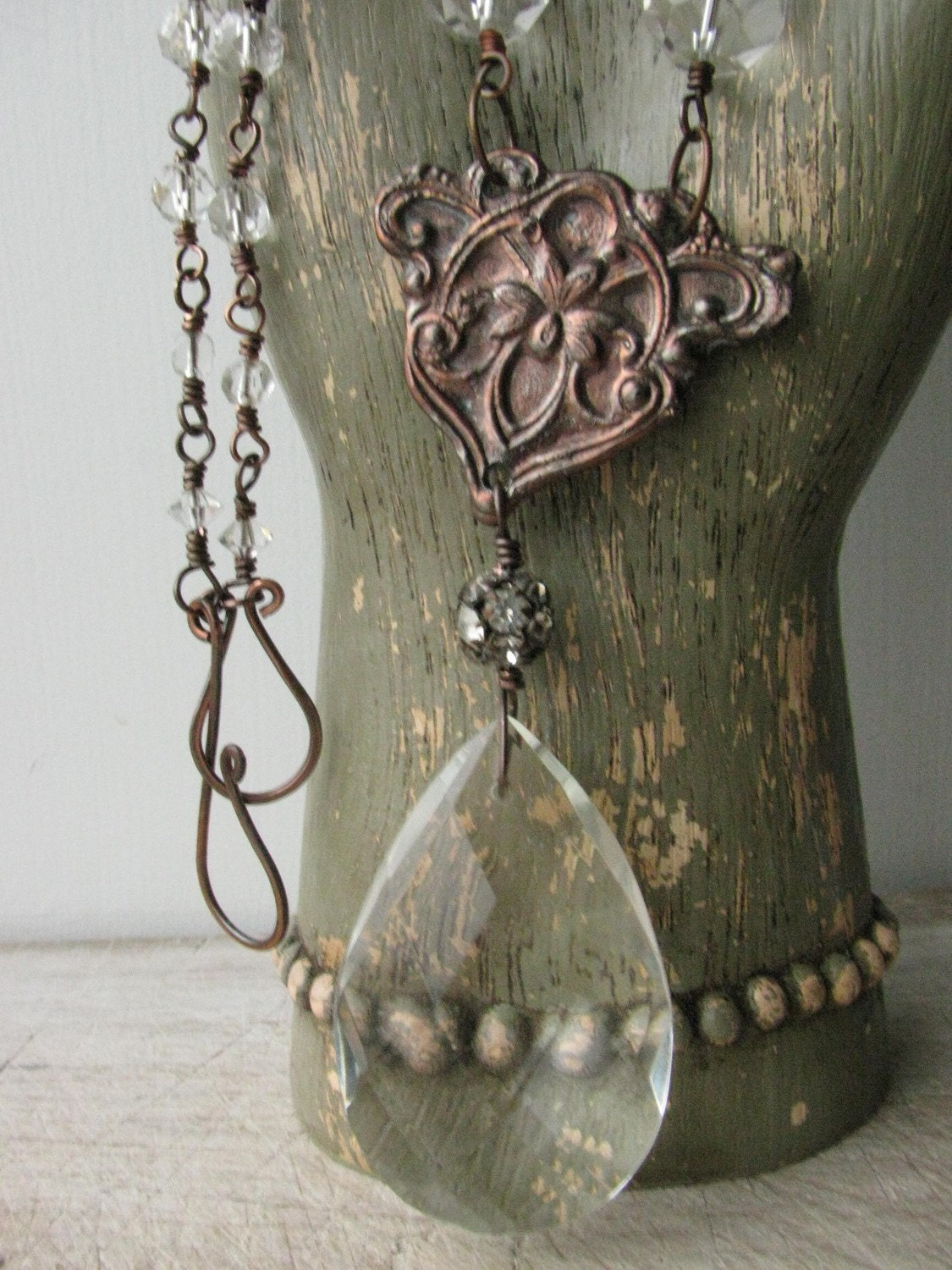 Antique and Fauxtique Crystal Necklace