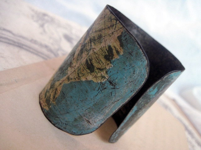 Alpine 2. Rustic Oxidized Cookie Tin Cuff.